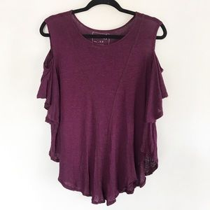   We the Free   seamed cold shoulder top